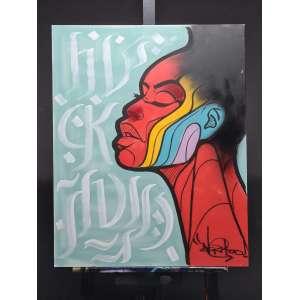 Artista: Negritoo<br />Tamanho da tela: 100x80cm<br />Data: 23/02/2021<br />Técnica: Spray a nase de solvente<br />Sem moldura<br />