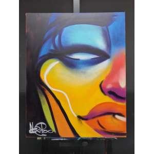 Artista: Negritoo<br />Tamanho da tela: 100x80cm<br />Data: 23/02/2021<br />Técnica: Spray a base de solvente<br />Sem moldura<br />