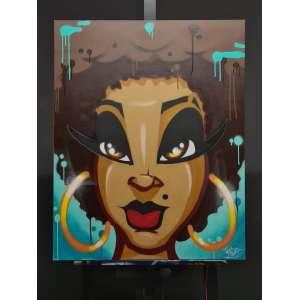 Artista: Image<br />Tamanho da tela: 100x80cm<br />Data: 23/02/2021<br />Técnica: Spray sobre tela<br />Sem moldura
