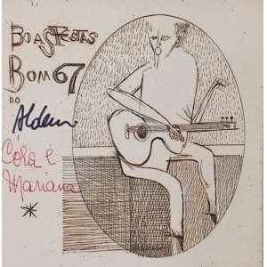 Aldemir Martins, Cartão de Boas Festas, datado de 1987, 14x14cm, assinado pelo artista, acse, sem moldura
