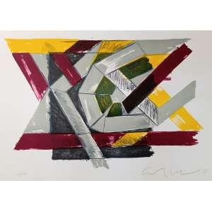 Emanoel Araújo, Composição, gravura, tiragem 33/50, 50x68cm, acid, sem moldura
