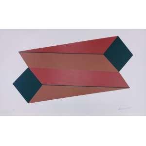 Sérvulo Esmeraldo, Composição, gravura, tiragem H.C, 65x101cm, sem moldura, acid, Observação: com três pontos de acidez