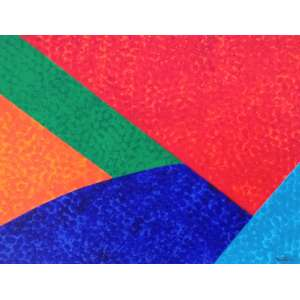 Claudio Tozzi, Movimento, acrílico sobre tela, 25x35cm, acid. Observação: Com certificado