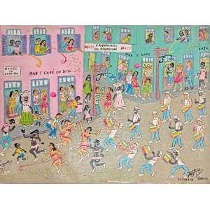 Tavares, Carnaval de Olundum, acrílico sobre tela, 30x40cm, sem moldura, acid
