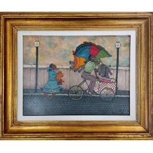 Heitor dos Prazeres, Tintureiro de triciculo, óleo sobre placa, 34x44cm, com moldura. obs: com certificado assinado pelo filho