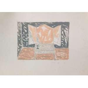 Fang, Janela, gravura, tiragem 65/80, datado de 1986, sem moldura, 50x70cm. Observação: necessita de limpeza