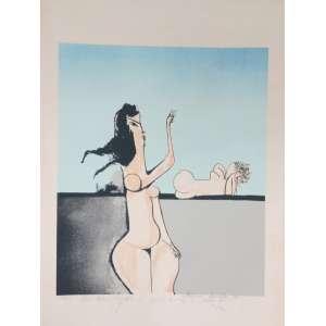 Aldemir Martins, Nu feminino, gravura, tiragem 15/100, 68x48cm, datado de 1981, assinada pelo artista. Observação: Necessita de limpeza