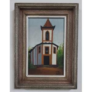 Ronaldo Pio – Igreja de Sabará – OST – Ass. CID 22 x 14,5 cm e com moldura 29,5 x 22 cm