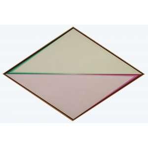 Hércules Barsotti - Intervalos coordenados XIII, acrílica e vinílica sobre tela, 79,80 x 120 cm, intitulado, assinado e datado 1983 no verso.
