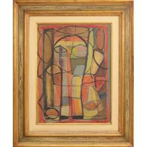 Aldo Bonadei - Abstrato, óleo sobre tela, 74 x 55 cm, assinado e datado 1957 no canto inferior direito.