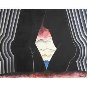 Antonio Henrique Amaral - Encontro, óleo sobre tela, 200 x 250 cm, assinado e datado 1996 no canto inferior direito.