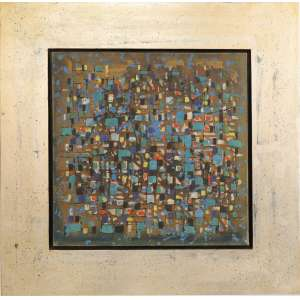 Antonio Bandeira - Cidade no inverno, óleo sobre tela, 40 x 40 cm, 1954,assinado e datado 1954 no canto inferior direito, intitulado, assinado e datado 54 no verso.