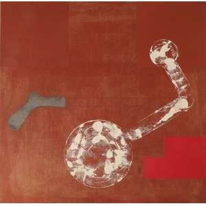 Antonio Dias - sem título, óleo sobre tela, 120 x 120 cm, assinado e datado 1988 no verso.