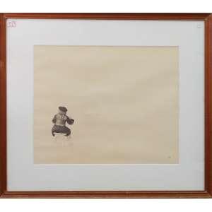 Arlindo Daibert Amaral - Retrato do Artista I, nanquim, 31 x 39 cm, 1979, assinado no canto inferior direito.