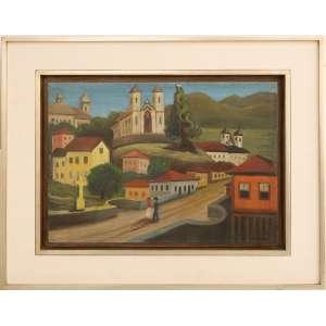 Arnaldo Ferrari - sem título, óleo sobre tela, 32 x 46 cm, sem data, assinado no canto inferior direito.