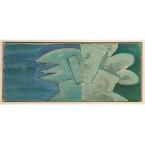 Beatriz Milhazes - sem título, acrílica sobre tela, 50 x 121 cm, 1987, não assinada.
