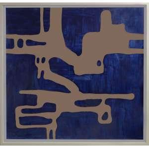 Carlito Carvalhosa - P16/17, pintura sobre alumínio espelhado, 124 x 124 cm, assinado e datado 2017 no verso