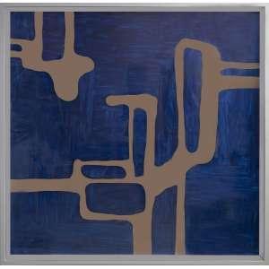 Carlito Carvalhosa - P17/17, pintura sobre alumínio espelhado, 124 x 124 cm, assinado e datado 2017 no verso