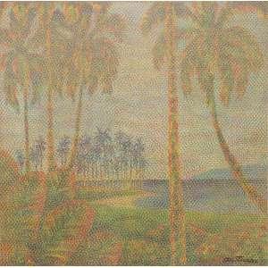 Claudio Tozzi - Paisagem, tinta acrílica sobre tela, 54 x 54 cm, assinado e datado 1980 no canto inferior direito e no verso
