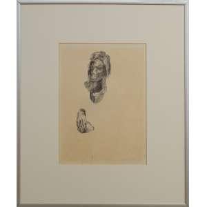 Di Cavalcanti - sem título, grafite e nanquim sobre papel, 35 x 26 cm, assinado e datado 1935 no canto inferior direito.