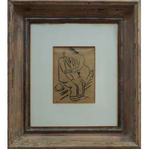 Di Cavalcanti - sem título, aguada de nanquim, 16,50 L: 12,50 cm, sem data