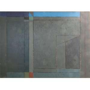 Gonçalo Ivo - Novembro I, óleo sobre tela, 150 x 200 cm, assinado e datado 1986 no verso