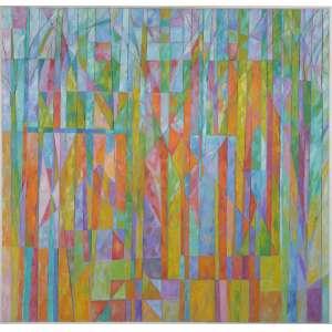 Gonçalo Ivo - Vista do pomar - Vargem Grande, óleo sobre tela, 130 x 135 cm, intitulado, assinado e datado 1992 no verso.