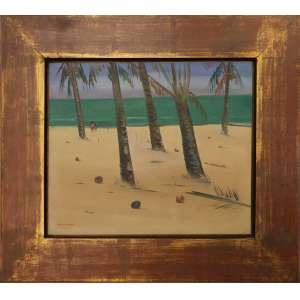 José Pancetti - Itapoã - Bahia, óleo sobre tela, 46 x 55 cm, assinado no canto inferior esquerdo, assinado e datado 1954 no verso.