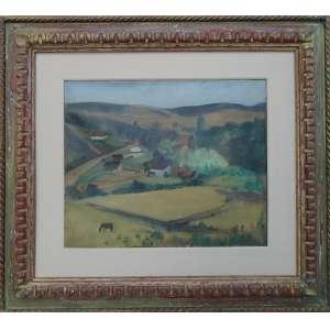 José Pancetti - Série Abissínia - Campos do Jordão, óleo sobre tela, 38 x 46 cm, assinado e datado 1949 no canto inferior direito, intitulado, assinado e datado no verso.