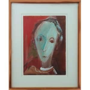 Maria Leontina - sem título, 34 x 24 cm, guache sobre papel, assinado e datado 1949 no canto superior esquerdo.