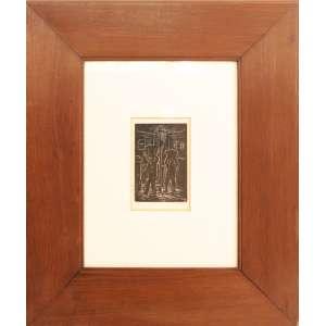 Oswaldo Goeldi - Lixeiros, xilogravura, edição 9/20, 16 x 10 cm, xilogravura, sem data