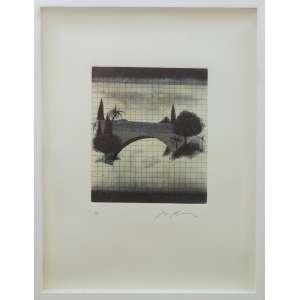 Sérgio Fingermann - sem título, gravura, edição 5/10, 52 x 39 cm, assinado e datado 2002 no canto inferior direito