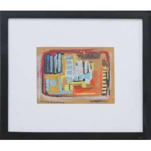 Maria Leontina - Composição pastel, giz de cera sobre papel, 16 x 22 cm, sem data, assinado no canto inferior esquerdo.