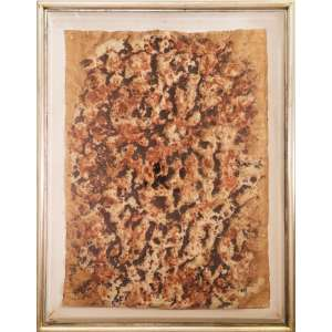 Franz Krajcberg - sem título, papel moldado, 73 x 54 cm, assinado e datado 1968 no canto inferior direito
