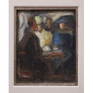 Milton Dacosta - Mesa do bar, óleo sobre tela colada em madeira, 20,5 x 16,5 cm, 1939, assinado no canto inferior direito