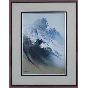 Tikashi Fukushima - Abstrato cinza, óleo sobre tela, 55 x 40 cm, sem data, assinado no canto inferior esquerdo