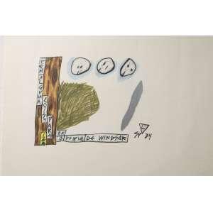 Leonilson - O duque de Windsor, lápis de cor sobre papel, 33 x 48 cm, assinado e datado 1984 no canto inferior direito. Reproduzido no Catálogo Raisonée do artista sob número PL.2981.0/00.