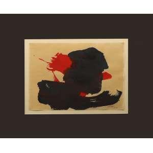 Manabu Mabe - sem título, guache sobre papel, 25 x 35 cm, assinado e datado 1960 no canto inferior direito.