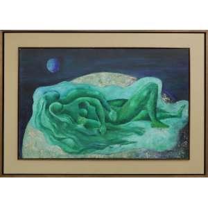 Nonê Andrade - sem título, óleo sobre tela, 65 x 100 cm, 1969, assinado e datado no canto inferior direito