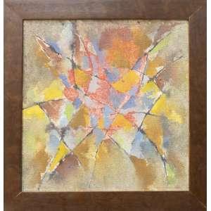 Gonçalo Ivo - Jardim, óleo sobre tela, 25 x 25 cm, assinado e datado 1993 no verso