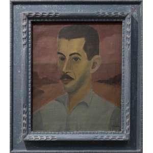 José Pancetti - Retrato de Hernani, óleo sobre tela, 46 x 38 cm, assinado no canto inferior direito, assinado e datado 1946 no verso