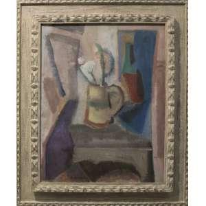 Aldo Bonadei - Vaso com flores, óleo sobre tela, 65 x 50 cm, assinado e datado 1946 no canto inferior esquerdo.