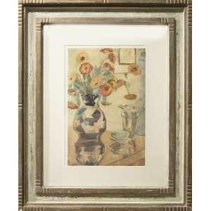 Yolanda Mohalyi - Vaso e bule, 48 x 32 cm, aquarela, assinado no canto inferior esquerdo, datado 1932 no canto superior direito