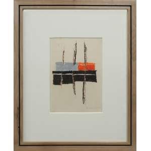 Maria Leontina - sem título, pastel sobre papel, 21 x 15,5 cm, década de 1960, assinado no canto inferior direito