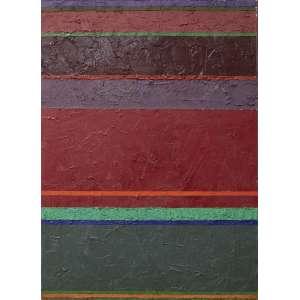 Gonçalo Ivo - Tissu Naga - Oratorio, acrílica sobre tela, 46 x 33 cm, assinado e datado 2007 no verso