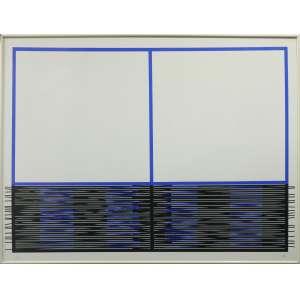Jesus Soto - Vibration Inferieure, serigrafia, 71 x 91 cm, 1990, assinado no canto inferior direito