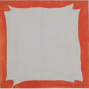 Maria Leontina - sem título, lápis aquarelado sobre papel, 15 x 15 cm, início da década de 1970, assinado no canto inferior direito.