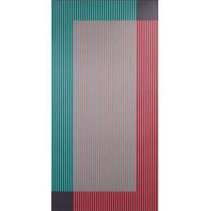 Cruz Diez, sem título, pintura sobre tela, 200 x 100 cm,1959/2000