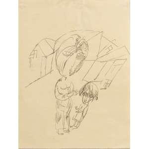 Lasar Segall - Mulher com criança, nanquim sobre papel, 21 x 16 cm, 1919, não assinado, autenticado no verso por Jenny Segall