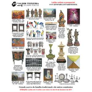 Galeria Valdir Teixeira - GRANDE LEILÃO DE OUTUBRO/NOVEMBRO (3 NOITES) - Início dia 30/10/2017